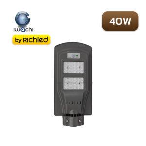 โคมไฟถนนโซล่าเซลล์ LED 40W Iwachi