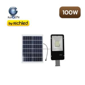 แผงโซล่าเซลล์และโคมไฟถนน IWACHI 100W