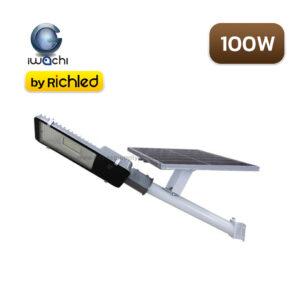 โคมไฟถนนโซล่าเซลล์ IWACHI 100W