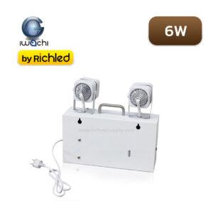 ด้านหลังโคมไฟฉุกเฉิน LED 6W IWACHI GE-2002