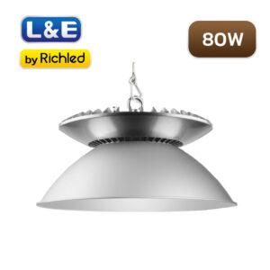 โคมไฮเบย์ LED 80W L&E HBL561