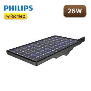 โคมไฟถนน LED โซล่าเซลล์ 26W PHILIPS BRP 710 LED45 SUNSTAY
